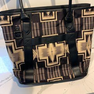 Pendleton Bags - Pendleton Black & Tan Geometric Harding Tote